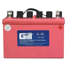 Aircraft Battery, 12V, 23AH.  3 QTS Electrolyte req.