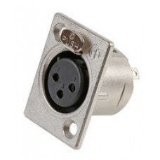 XLR 3 pin socket with lock