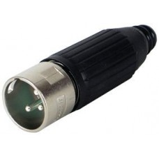 XLR 3 pin plug with lock