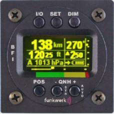 Basic Flight Instrument for Ultralight, 57mm, IAS, ALT, Vario, GPS