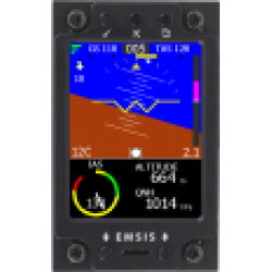 "Kanardia 3.5"" Primary Flight Display (AHRS, IAS, Vario, GPS, OAT)"