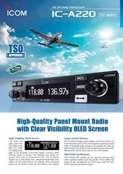 Icom IC-A220 VHF Air Band Transceiver